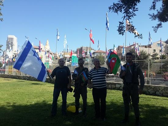 """נציגים מקהילה הקווקזית של ארגון """"שח-דג"""" בצעדת ירושלים 2016"""
